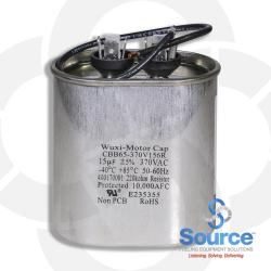 Capacitor Assembly For 1/3 To 1-1/2 Hp 60 Hz 15 Ufd 380 Volt Single-Phase