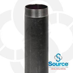 4 Inch X 30 Inch Riser Pipe Nipple Black .188 Used On Submersible Pumps