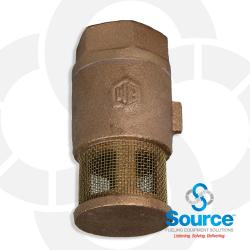 1/2 Inch Single Poppet Brass Foot Valve