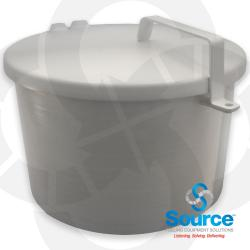 4 Inch 7-1/2 Gallon Above Ground Storage Tank Spill Container With Drain - Male Threads  Offset Mount