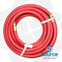 1/4 Inch X 25 Foot Red Service Station Air Hose Male X Male