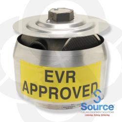 2 Inch Thread-On EVR Pressure Vacuum Vent With Internal Screen, 3 Inch WCP/8 Inch WCV