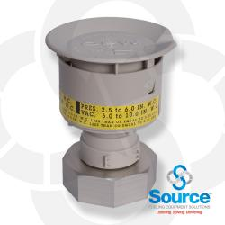 3 Inch Thread-On 2-1/2 Inch To 6 Inch Water Column Pressure Vacuum Vent