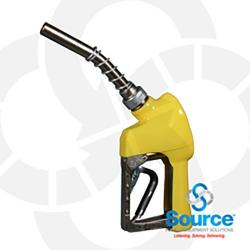 Yellow Xs Pressure Activated E85 Automatic Nozzle 3/4 Inch Inlet Spout Bushing Splash Guard 3-Notch Hold Open Clip. Ul Listed. Murphy - No Warranty.