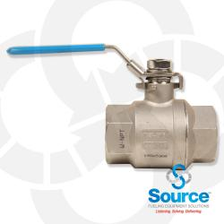 1-1/2 Inch Full Port Stainless Steel Locking Ball Valve