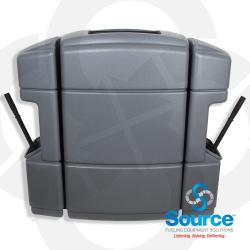 Gray Island Convenience Center 40 Gallon Trash Can With Two Window Service Centers