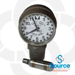 2 Inch Clock Gauge Female Thread With Drop Tube Float
