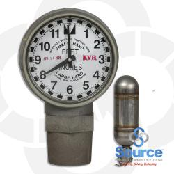 2 Inch EVR Clock Gauge With Female Threads And Drop Tube Float