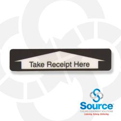 Receipt Here Decal