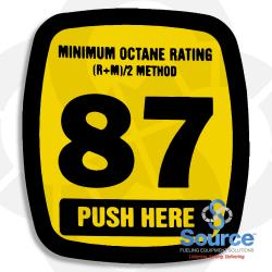 Decal Actuator Generic 87 Octane