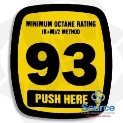 Decal Actuator Generic 93 Octane