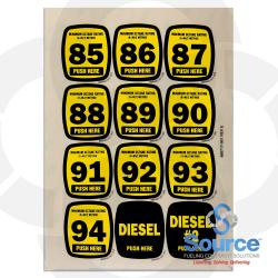 Kit Actuator Decal Sheet 85-94 Octane Diesel Diesel #2