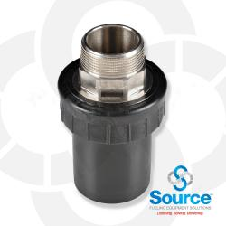 2 Inch X 1-1/2 Inch NPT Male Threaded Termination Fitting