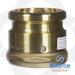 4 Inch Brass Swivel Fill Adapter 4 Inch Female Npsm X 4 Inch Cam And Groove