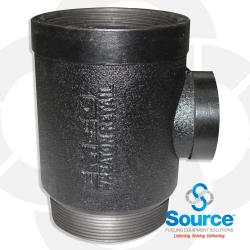 Extractor Tee Fitting & 2 Inch Cage 4 Inch X 4 Inch X 2 Inch