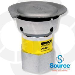 2 Inch NPT Thread-On Aluminum Pressure Vacuum Vent, 2-1/2 - 6 Inch Range Water Column Pressure, 6 - 10 Inch Range Vacuum