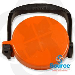 4 Inch Low Profile Orange Vapor Adapter Cap