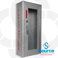 Larson Small Fire Extinguisher Enclosure (Al2409-Sm-Fg) With Lock And Red Decal