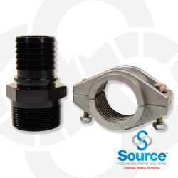 1-1/2 Inch Barbed Male Adapter For Flexworks Primary Pipe