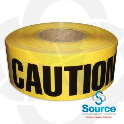 3 Inch X 1000 Foot Roll 2 Mil Caution/Barricade Tape