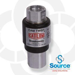 M34 X 1-1/2 Inch Female Vacuum Assist Cam Twist Reconnectable Magnetic Breakaway