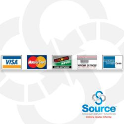 Decals - Dispenser Credit Cards