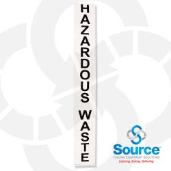 Decal - Outdoor Hazardous Waste (Vertical)