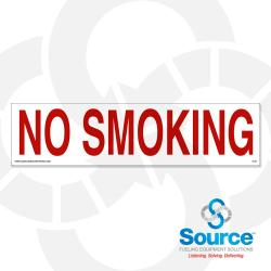3 Inch X 12 Inch Decal Red On White - No Smoking