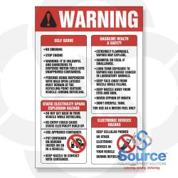 8 Inch X 12 Inch Decal - Single Faced - Fire Red/Black On White - Warning Decal