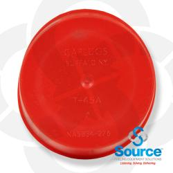 3 Inch Red Test Measure Cap