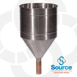 Stainless Steel Funnel With Copper Spout