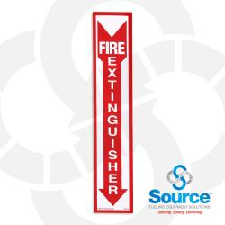 4 Inch X 18 Inch Decal - Fire Extinguisher