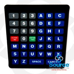 Encore Alpha Keypad Standard Overlay English