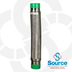3 Inch Diameter Fireflex Connector With 3 Inch Male X 3 Inch Male 24 Inch Length