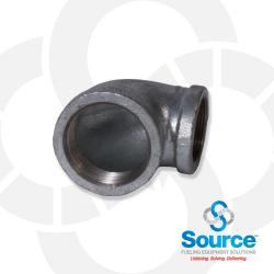 Galvanized Reducing Elbow 90 Degree 2 Inch NPT X 1-1/2 Inch NPT