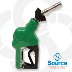 Green Unleaded Vacuum Assist Automatic Nozzle M34 Inlet With Hold Open Device. Ul Listed.