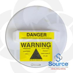 9 Inch Locking Monitoring Well Warning Cap