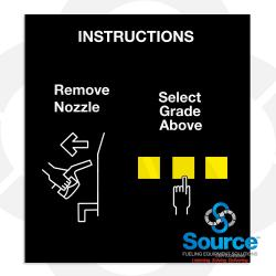 Encore Single Hose Nozzle Panel Overlay, Standard Instructions (EN11004G005)