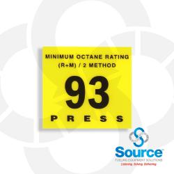 Octane Rating Button Overlay 93 (Eu02001G004)