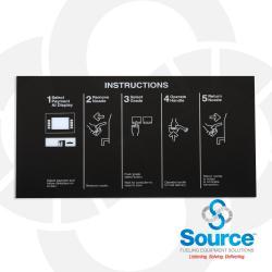 Encore Left CIM Nozzle Panel Overlay, Instructions, Murphy, White On Black (EN11007G076)