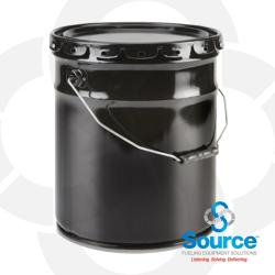 Steel Service Pail With Leakproof Lid - 5 Gallon