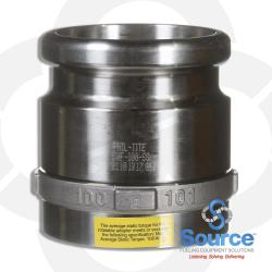 4 Inch Fill Swivel Adapter - Stainless Steel