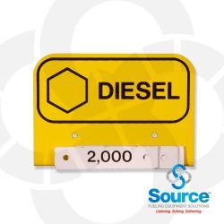 3-1/2 Inch X 2-1/2 Inch Aluminum Storage Tank Id Tags Diesel