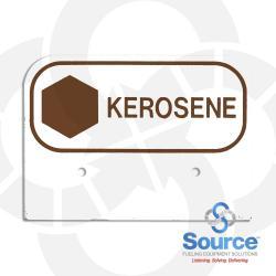 3-1/2 Inch X 2-1/2 Inch Aluminum Storage Tank Id Tags Kerosene