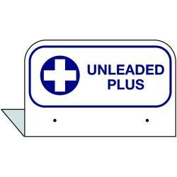 3-1/2 Inch X 2-1/2 Inch Aluminum Storage Tank Id Tags Unleaded Plus