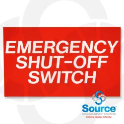 5 Inch X 3 Inch Decal Emergency Shut-Off Switch