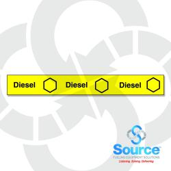 38 Inch X 3-1/2 Inch Printable Polyethylene Storage Tank Collar Diesel