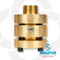 Doubletrac 1-1/2 Inch NPT Straight Brass Fitting