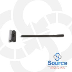 8 Inch Squeegee Head With 20 Inch Black Handle - Unassembled