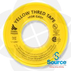1/2 Inch X 260 Inch Yellow Thread Tape HD